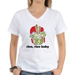 Rice Rice Baby Women's V-Neck T-Shirt