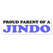 Proud Parent of a Jindo Bumper Sticker