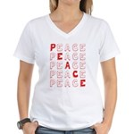 Pro-Peace  Women's V-Neck T-Shirt