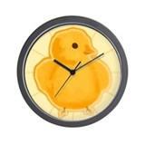 Funky Easter Chick Wall Clock