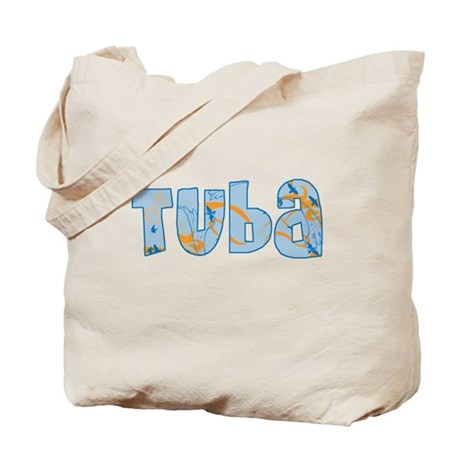 Patterned Tuba Tote Bag