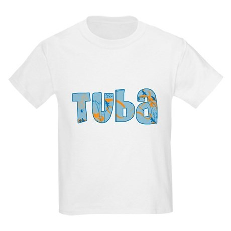 Patterned Tuba Kids Light T-Shirt