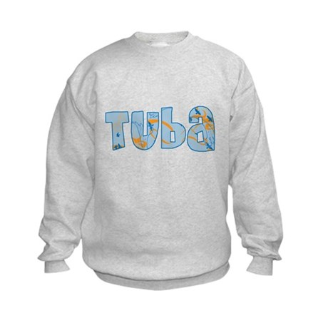 Patterned Tuba Kids Sweatshirt