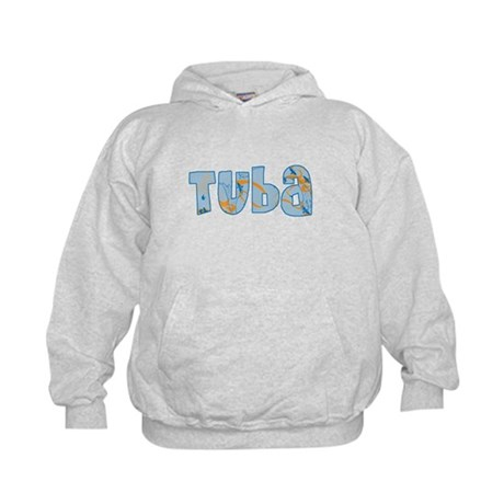Patterned Tuba Kids Hoodie