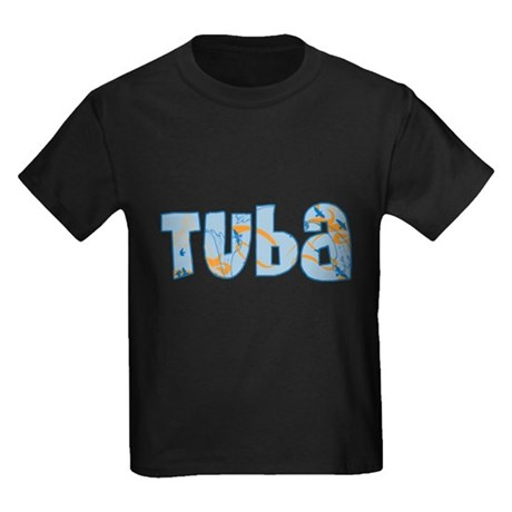 Patterned Tuba Kids Dark T-Shirt