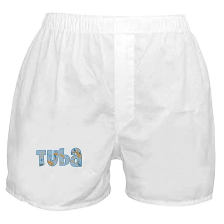 Patterned Tuba Boxer Shorts