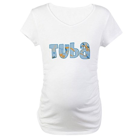 Patterned Tuba Maternity T-Shirt