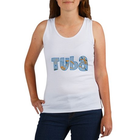 Patterned Tuba Women's Tank Top