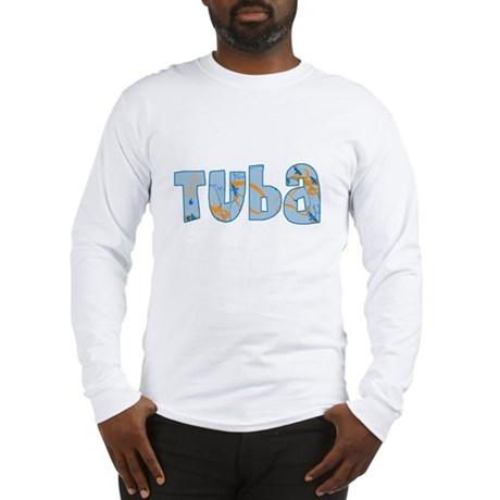 Patterned Tuba Long Sleeve T-Shirt