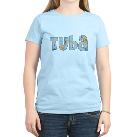 Patterned Tuba Women's Light T-Shirt