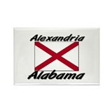 Alexandria Alabama Rectangle Magnet