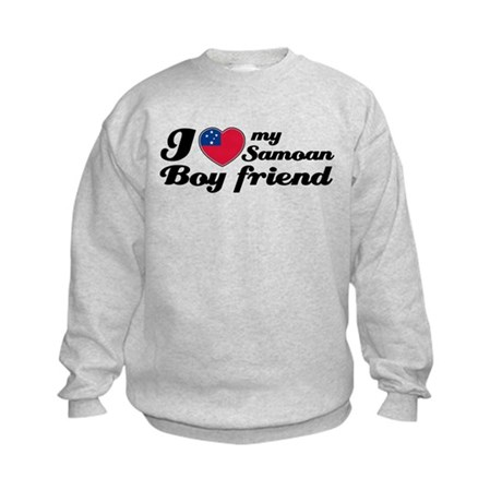 I love my Samoan Boyfriend Kids Sweatshirt