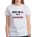 Kiss Me I'm a CONTRACT CLEANING MANAGER Women's T-