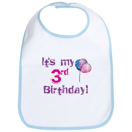 It's My 3rd Birthday Bib
