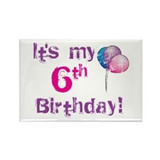 It's My 6th Birthday Rectangle Magnet (100 pack)