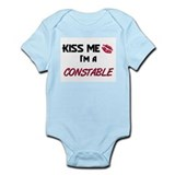 Kiss Me I'm a CONSTABLE Infant Bodysuit