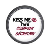 Kiss Me I'm a COMPANY SECRETARY Wall Clock