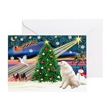 Xmas Magic & Kuvasz Greeting Card