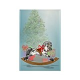 Rocking Horse With Gifts Rectangle Magnet