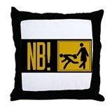 Beware of Muggers, Estonia Throw Pillow