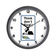 Think Don't Sink, UK Wall Clock