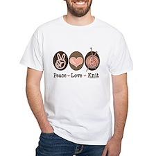 Peace Love Knit Knitting Shirt