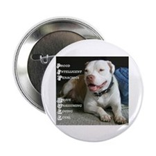 "Unique Pittie 2.25"" Button (100 pack)"