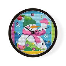 Snowman Wall Clock