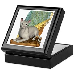 Cat (White Oriental) Keepsake Box