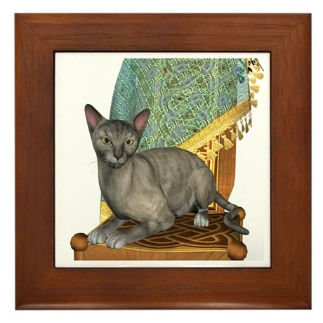 Cat (Tortie Oriental) Framed Tile