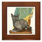 Cat (Tortie Oriental) Framed Tile