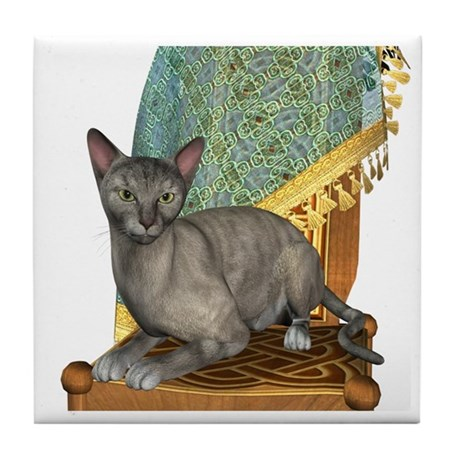 Cat (Tortie Oriental) Tile Coaster