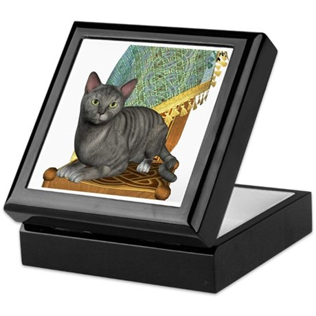 Cat (Silver Tabby) Keepsake Box