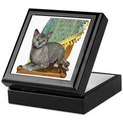 Cat (Silver Mau) Keepsake Box