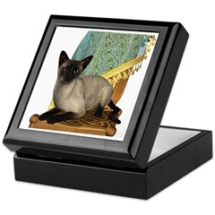 Cat (Siamese) Keepsake Box