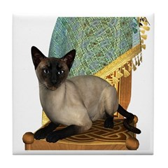 Cat (Siamese) Tile Coaster