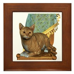 Cat (Red Tabby) Framed Tile