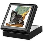Cat (Grey Tabby) Keepsake Box