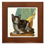 Cat (Calico) Framed Tile