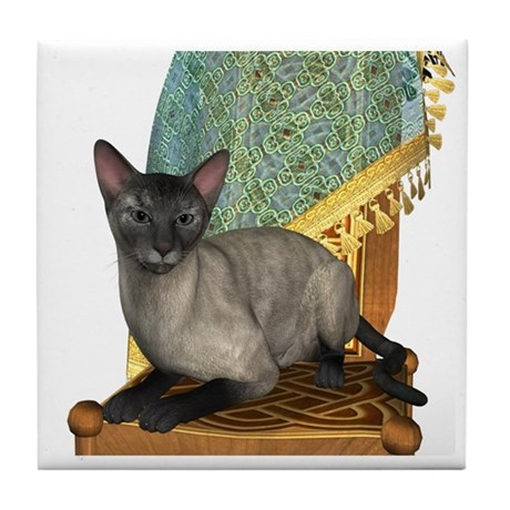 Cat (Blue Siamese) Tile Coaster