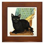 Cat (Black) Framed Tile
