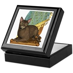 Cat (Abyssinian) Keepsake Box