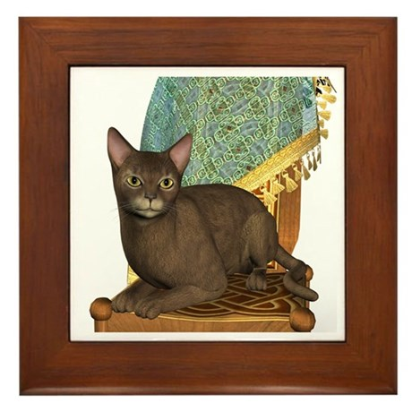 Cat (Abyssinian)Framed Tile