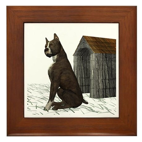 Dog (Staffordshire) Framed Tile