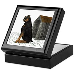 Dog (Rottweiler) Keepsake Box