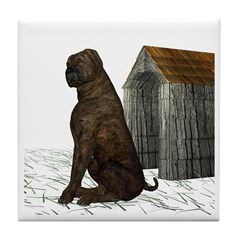 Dog (Mastiff) Tile Coaster