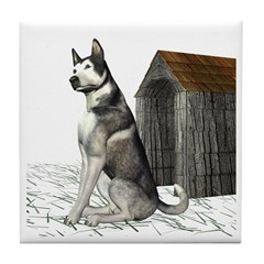 Dog (Malamute) Tile Coaster