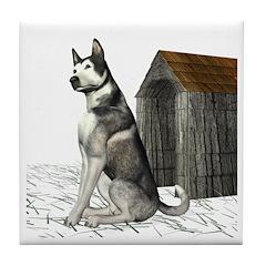 Dog (Malamute) Tile Coaster