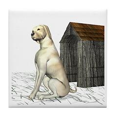 Dog (Yellow Labrador) Tile Coaster
