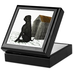 Dog (Black Labrador) Keepsake Box